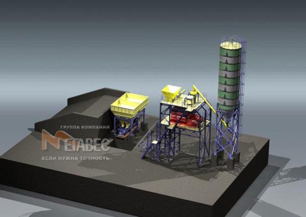 Модульный бетонный завод МВ-15