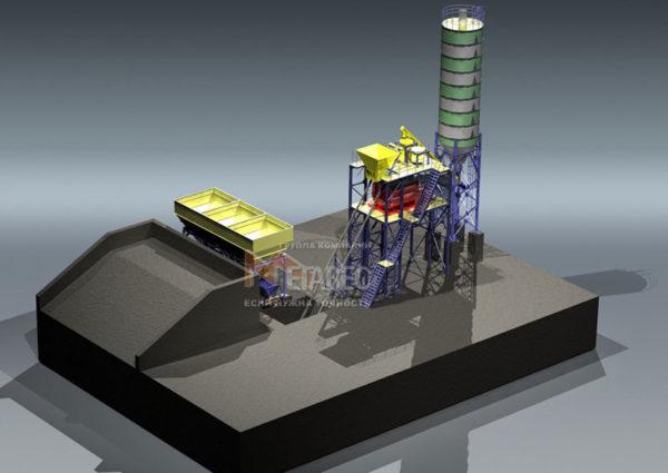 Модульный бетонный завод МВ-40-1Ц3И