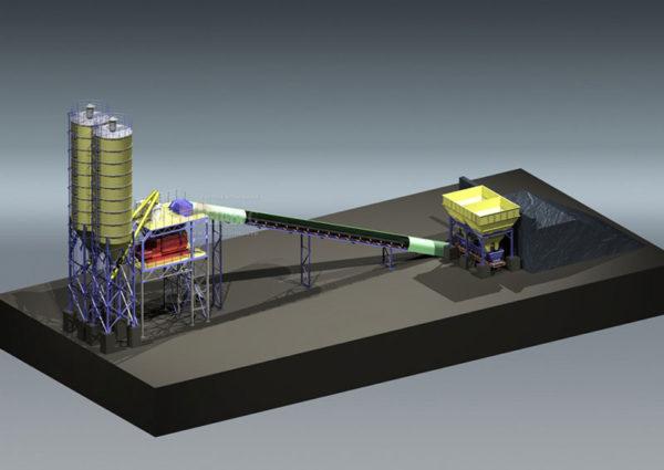 Модульный бетонный завод МВ-50л-2И