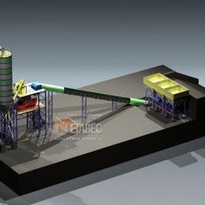 Модульный бетонный завод МВ-50л-3И