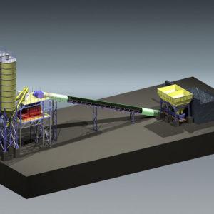 Модульный бетонный завод МВ-60-2И