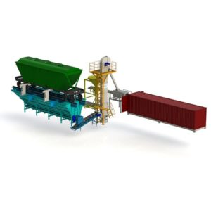 Комплекс для разгрузки вагонов и фасовки контейнеров